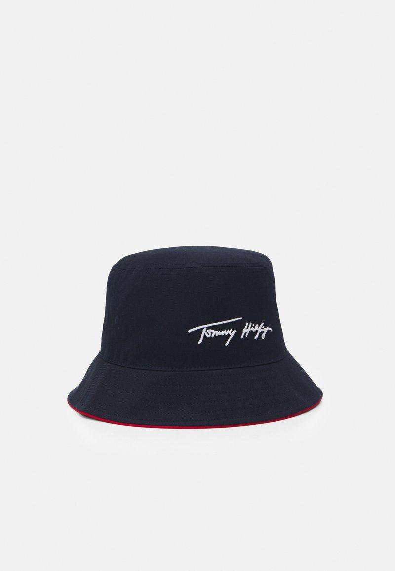Tommy Hilfiger - TH SIGNATURE BUCKET HAT UNISEX - Hat - blue