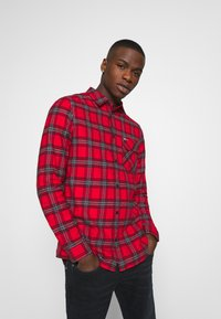 Tommy Jeans - PLAID - Skjorta - deep crimson/multi - 0