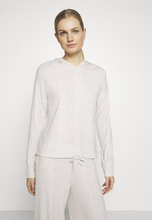 DROP NEEDLE HOODIE - Pyjamasoverdel - oatmeal heather