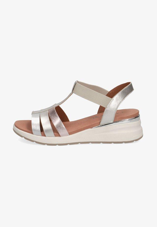 Sandales à plateforme - metallic comb