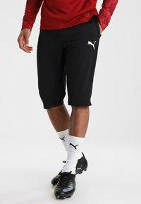 Puma - LIGA TRAINING PANTS - 3/4 sports trousers - black/white - 0
