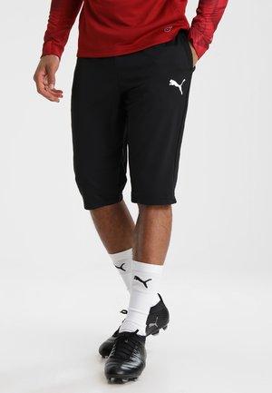 LIGA  - 3/4 sports trousers - black/white