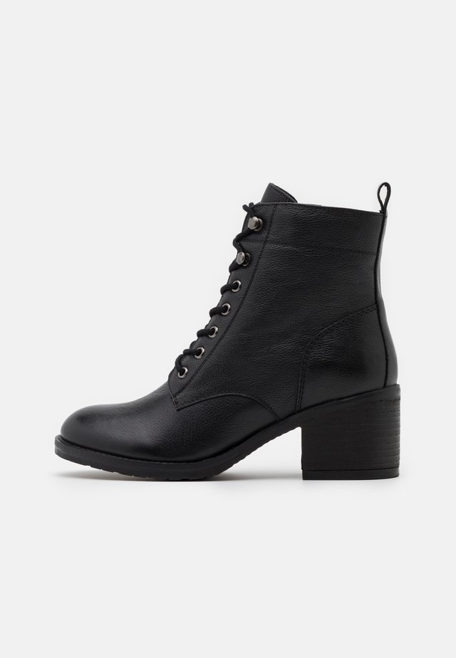 OODLE HEELED - Bottines à lacets - black