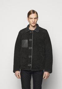 PS Paul Smith - JACKET - Leather jacket - black - 2