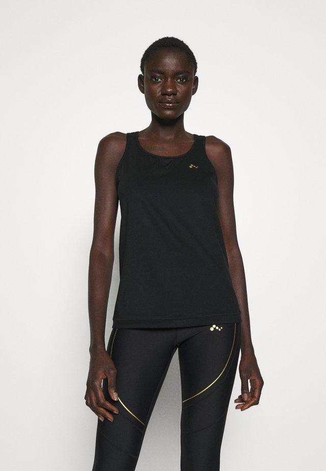 ONPJACINTE TRAINING TALL - T-shirt de sport - black/white gold