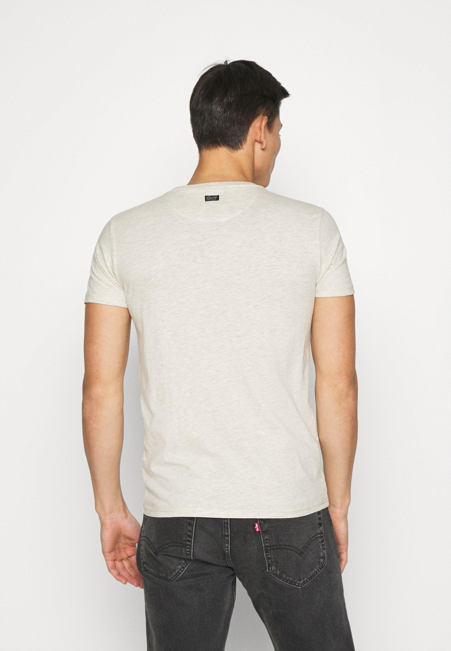 Petrol Industries Print T-shirt - antik white 50sCH