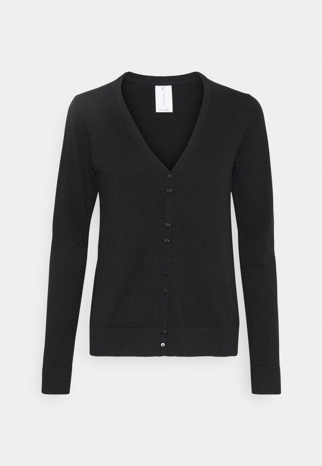 LOREN CARDIGAN - Vest - black