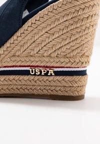 U.S. Polo Assn. - AFRODITE - Sandalias de tacón - dark blue - 2