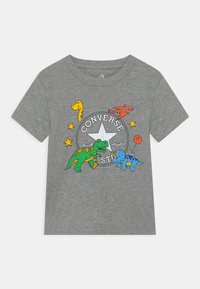 Converse - DINO TEE - T-shirt con stampa - dark grey heather - 0