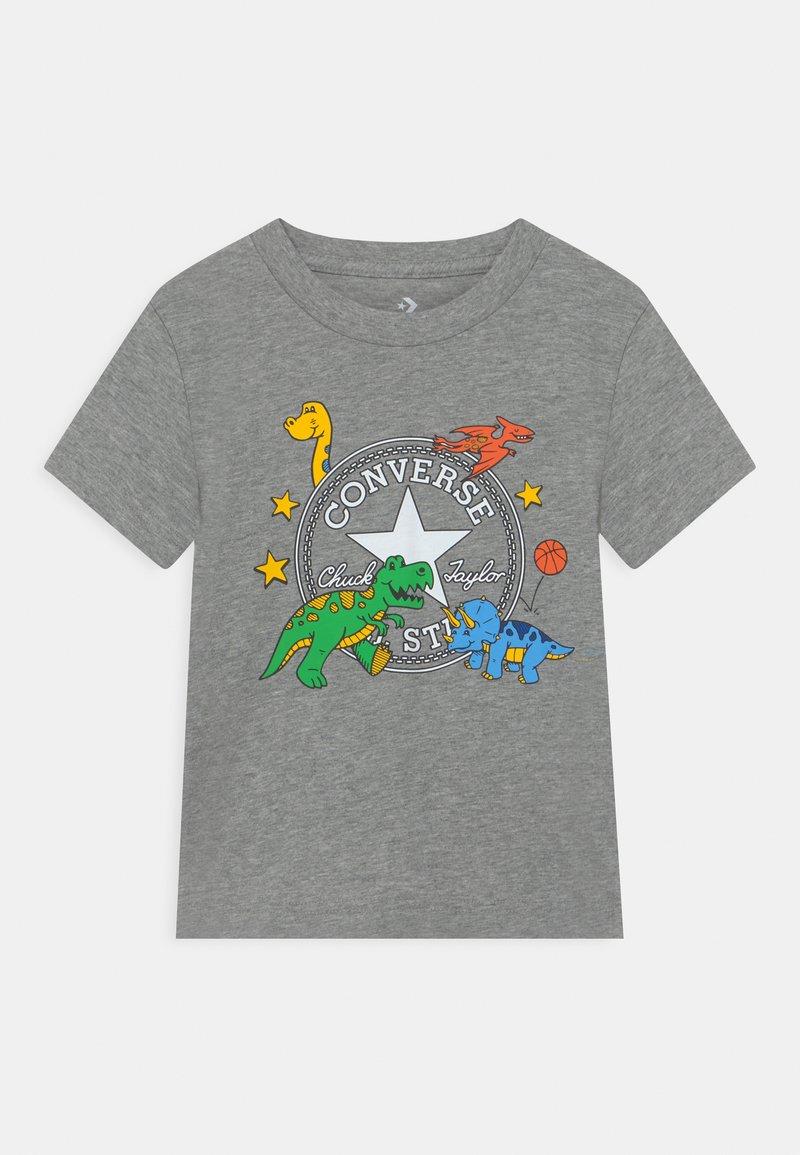 Converse - DINO TEE - T-shirt con stampa - dark grey heather