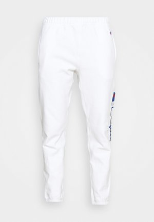 ELASTIC CUFF PANTS - Pantalones deportivos - white