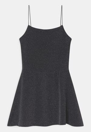 SPARKLE SPAGHETTI STRAP  - Jersey dress - grey/charcoal