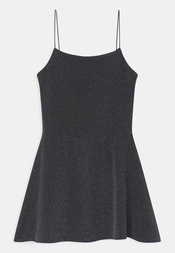 SPARKLE SPAGHETTI STRAP  - Jersey dress - grey/charcoal