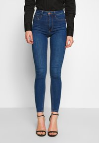 Gina Tricot - HIGHWAIST - Jeans Skinny Fit - dark blue - 0