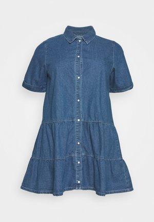 TIERED SMOCK DRESS - Shirt dress - blue