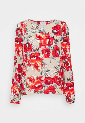 VIDOTTIES O NECK - Long sleeved top - humus/red