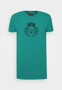 SIKSILK - PRESTIGE GYM TEE - Print T-shirt - teal - 3