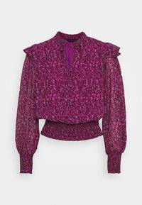 Dorothy Perkins - DITSY TIE NECK LONG SLEEVE - Blouse - pink - 0