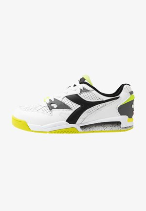 REBOUND ACE - Sneakersy niskie - white/black/lime punch