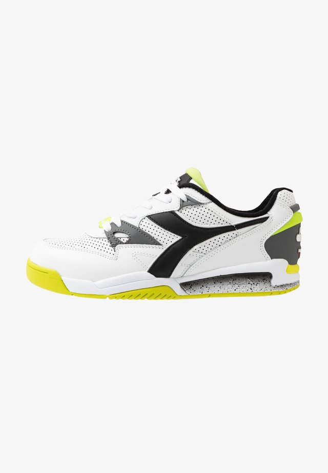 REBOUND ACE - Sneakers basse - white/black/lime punch