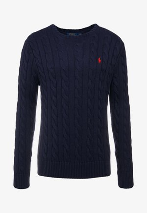 CABLE - Sweter - hunter navy