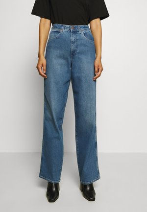 MOM RELAXED - Flared Jeans - blue denim