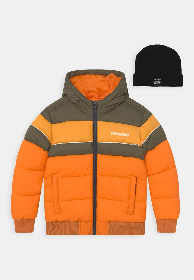 Vingino - TONIUS SET - Winter jacket - fall orange/deep black