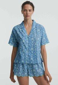 OYSHO - Button-down blouse - blue - 0