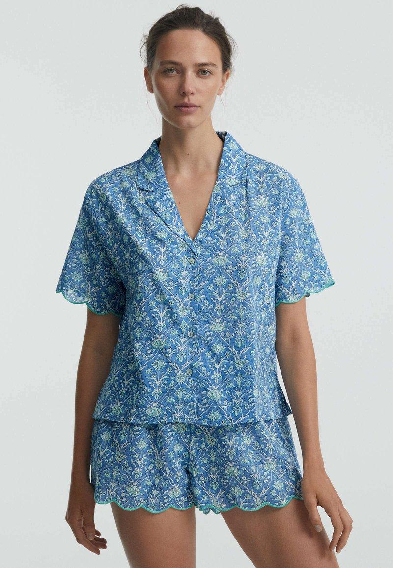 OYSHO - Button-down blouse - blue