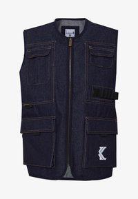 Karl Kani - DENIM UTILITY  - Bodywarmer - blue - 4