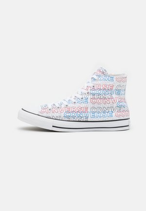 CHUCK TAYLOR ALL STAR WORDMARK PRINT UNISEX - High-top trainers - white/university red/digital blue