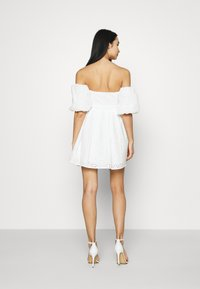 NA-KD - EMBROIDERED MINI DRESS - Cocktail dress / Party dress - white - 2