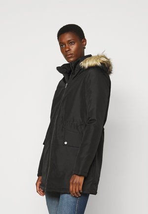 NMOCTAVIA LONG JACKET - Winter coat - black