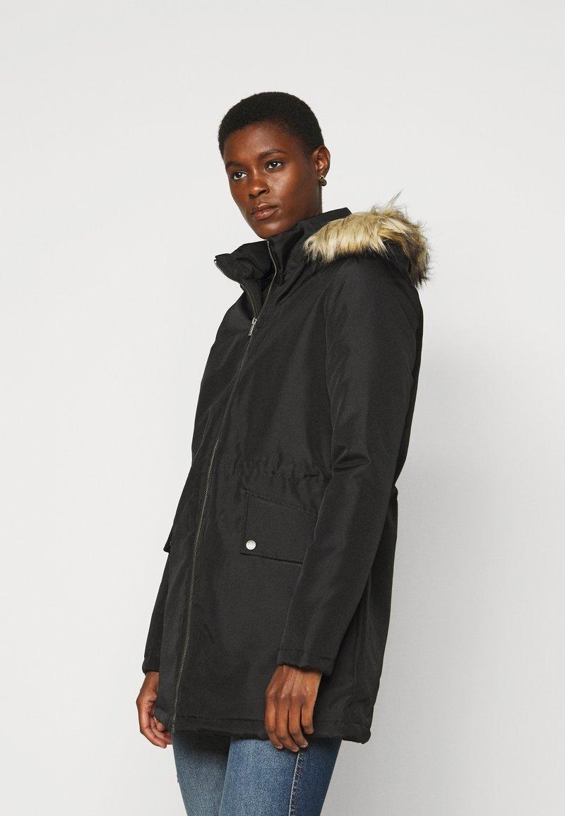 Noisy May Tall - NMOCTAVIA LONG JACKET - Winter coat - black