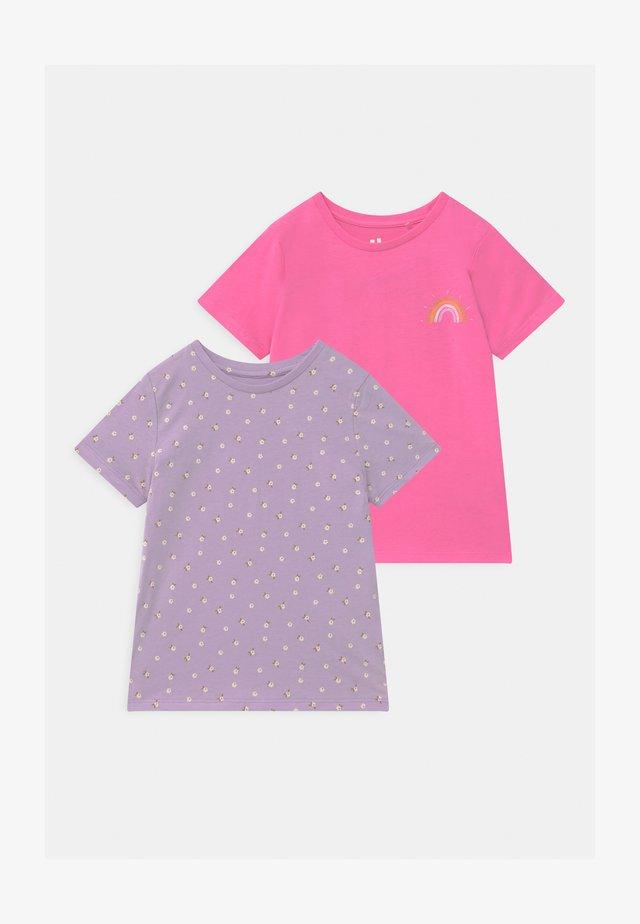 PENELOPE 2 PACK - T-shirts med print - vintage lilac/pink punch
