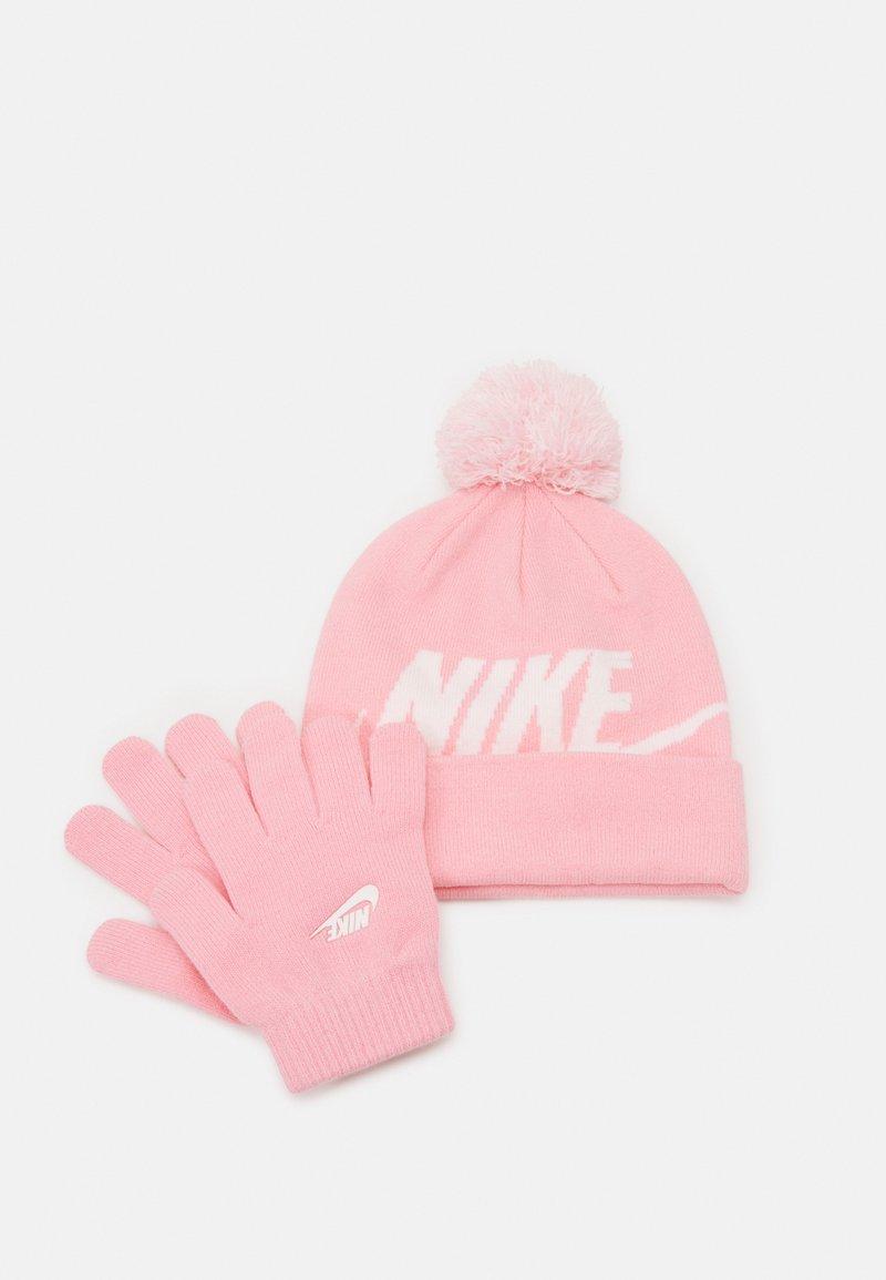 Nike Sportswear - POM BEANIE GLOVE SET - Handschoenen - pink