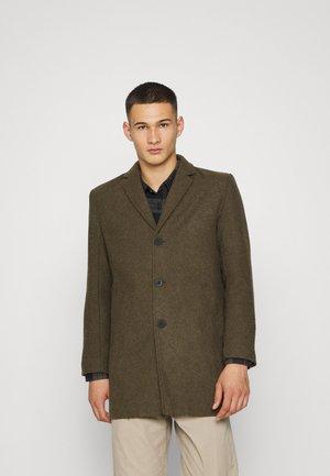 Classic coat - dark olive melange