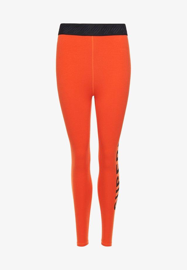 Leggings - Trousers - bold orange