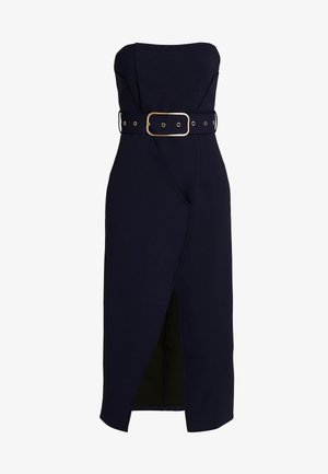 BANDEAU BELTED BODYCON DRESS - Kotelomekko - navy