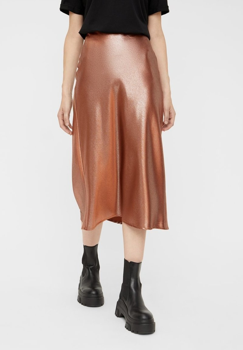 Pieces - Pleated skirt - root beer