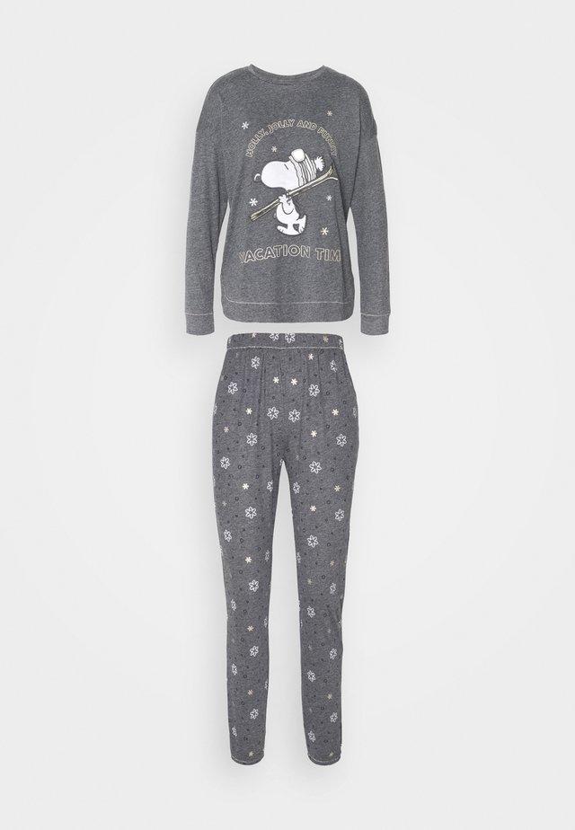 LONG SLEEVES LONG PANT SET - Pyjama - lunar melange