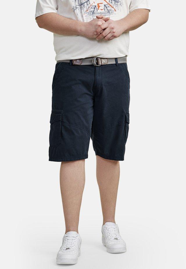 MIT CARGOTASCHEN - Shorts - navy