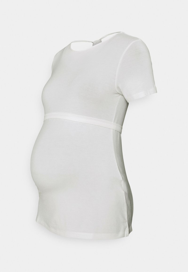 MAMALICIOUS - MLCARINA  - T-shirt z nadrukiem - snow white