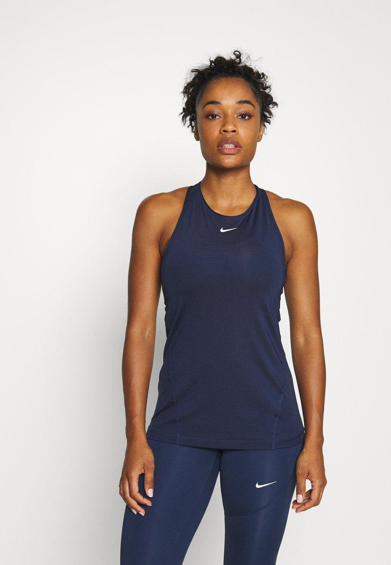 Nike Performance - TANK ALL OVER  - Tekninen urheilupaita - midnight navy/white