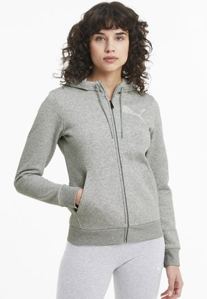 Felpa aperta - light gray heather