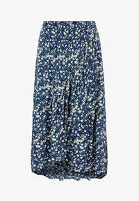 Pieces - A-line skirt - maritime blue - 4