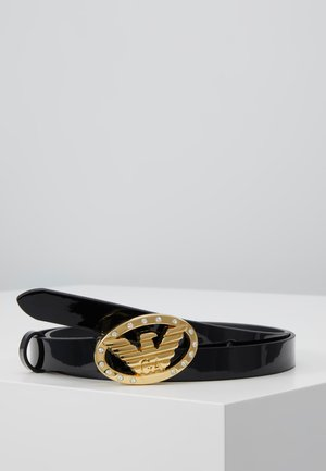 EAGLE BUCKLE NARROW PATENT - Riem - nero
