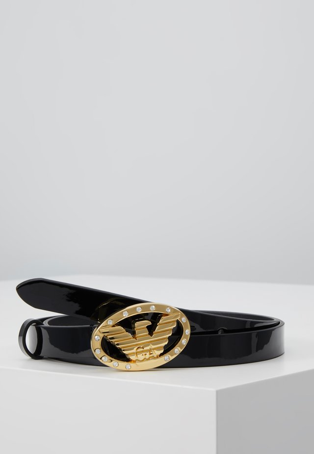 EAGLE BUCKLE NARROW PATENT - Belt - nero