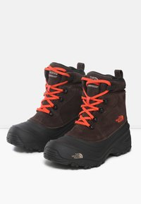 The North Face - Y CHILKAT LACE II - Śniegowce - coffee brown/flare - 2