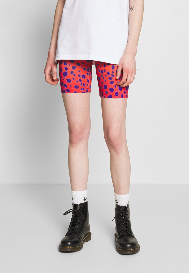 House of Holland - VIVID CHEETAH CYCLING - Shorts - orange multi